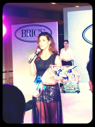 The gorgeous @FranciVersace unveiling her new @BricsItalia collection.