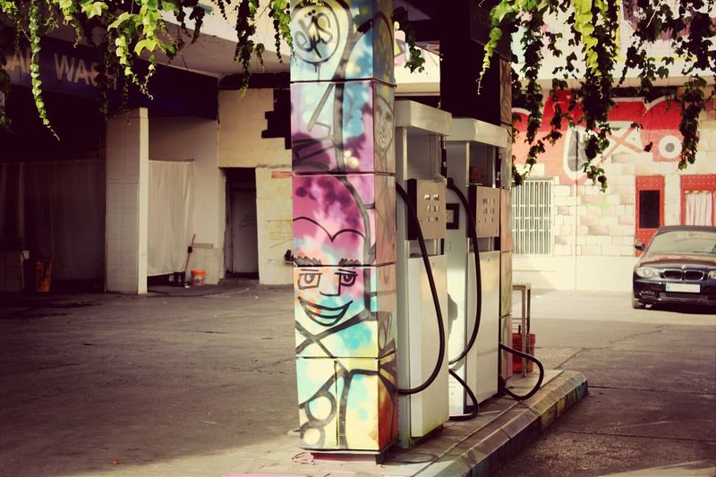 Graffiti in the gas station - Shoot, Share, Learn- EyeEm Beirut Meetup Graffiti Colors Photography