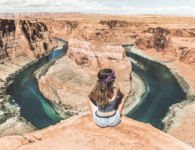 Arizona Desert Grand Canyon Horseshoe Horseshoe Bend View Colorado River Girl Photography
