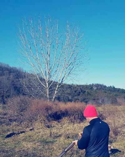 Clear Sky Real People Beauty In Nature Day Outdoors One Person Nature Sky Leisure Activity Adults Only Tree People Adult Hunting Bird Hunting  Cousin