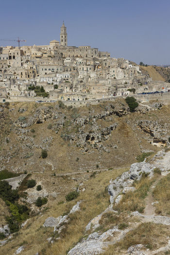 Sceniclandscape surrounding the ancient city of Matera, Italy 2019 Matera Matera 2019 Panorama Ancient Civilization Basilicata Building Exterior Capital Of Culture Day Environment Italy Italy❤️ Landscape Murgia No People Outdoors Ravine Rock - Object Rock Formation Rocky Landscape Sassi Sassi Di Matera Scenics Village