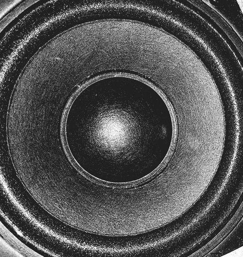 Circle Geometric Shape Macro Close-up Sound Speaker Black Hight Contrast Beautifully Organized Close Up Technology