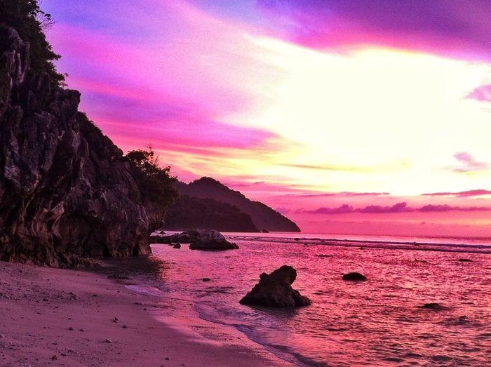 Sunset At Lhok Keutapang Beach, Aceh Besar