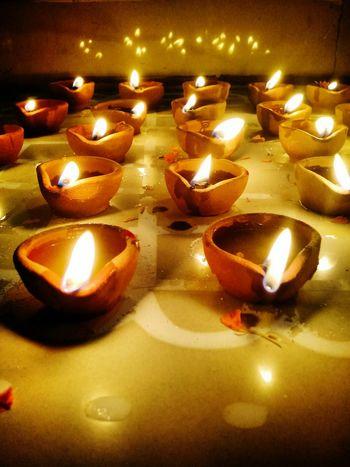Fire Fire Lamp Festival Diwali Indoors  First Eyeem Photo