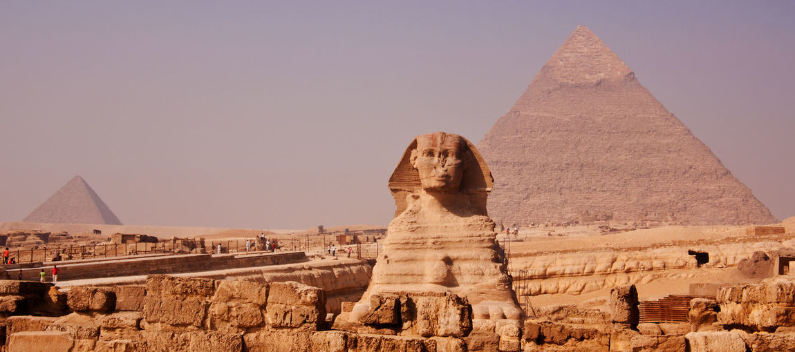 Cairo Egypt World Heritage Africa Ancient Ancient Civilization Archaeology Architecture Built Structure Desert History Pyramid Sculpture Sphinx Stone Material The Past Travel Travel Destinations World Wonders