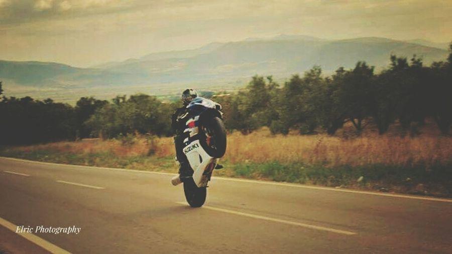 SuperSport Suzuki Suzuki Gsxr 1000On The Move Thats Me  Superbike Riding Motion Speed RISK Extreme Sports Skill  Wheelie Greece