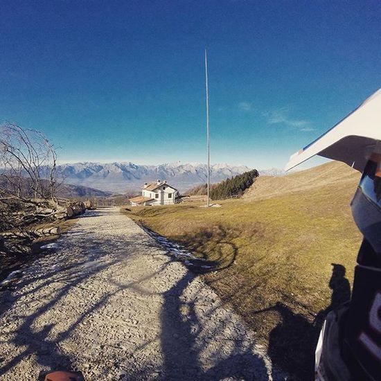On The Top Of The World Me Ktm Ktmexc125 Exc125 Exc Malga Mountains Bluesky Shoot With A Gopro Goprohero Entrylevel During An Enduro Session Veneto Italy