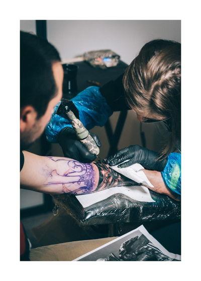 Tatto Ink Roma Rome Lightroom Human Hand Young Women Portrait Women Beauty Beautiful Woman Beautiful People Close-up