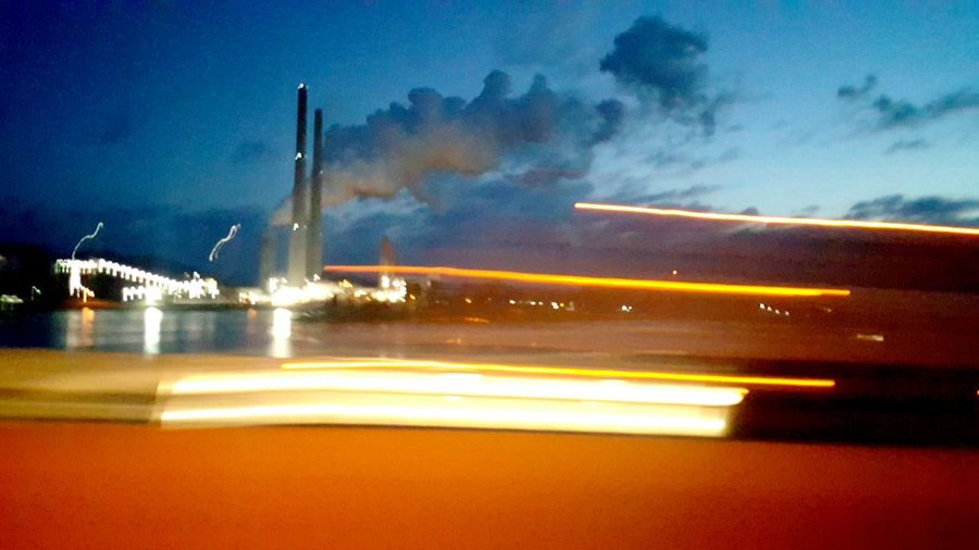 Blurred Motion and Light In The Darkness Through My Windshield Tenessee Industrial Landscapes Learn & Shoot: After Dark