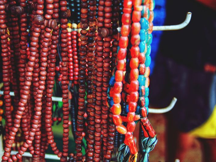 Close-up of multi colored candies for sale at market stall