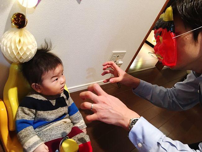 鬼と息子👹👶🏻 節分 Setsubun ONI Demon Dad&Son Family Babyboy Oursweetbaby