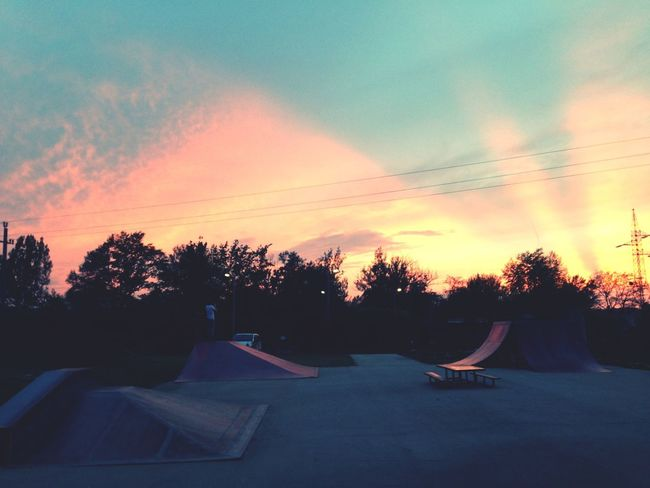 Skateboarding Relaxing Clouds And Sky Color Portrait