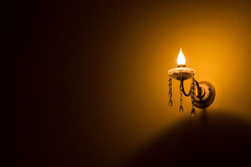 Burning Candle Close-up Copy Space Diya - Oil Lamp Flame Glowing Heat - Temperature Illuminated Indoors  Lighting Equipment No People Oil Lamp