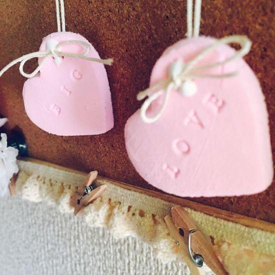 紙粘土 はーと ピンク Paper Clay Handicraft First Eyeem Photo