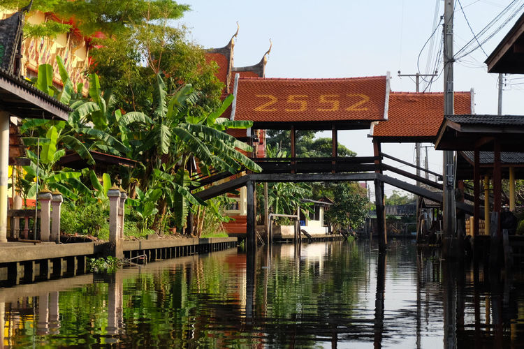 2552 Birth Bridge Thai local Bridge - Man Made Structure ThaiLocal Cannal Sightseeing Water Architecture Travel Destinations Tree Outdoors Built Structure Day Building Exterior Nature Sky