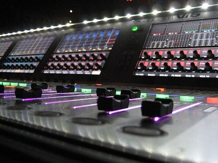 What Does Music Look Like To You? Check out my sound board. Soundcraft Vi6 Music