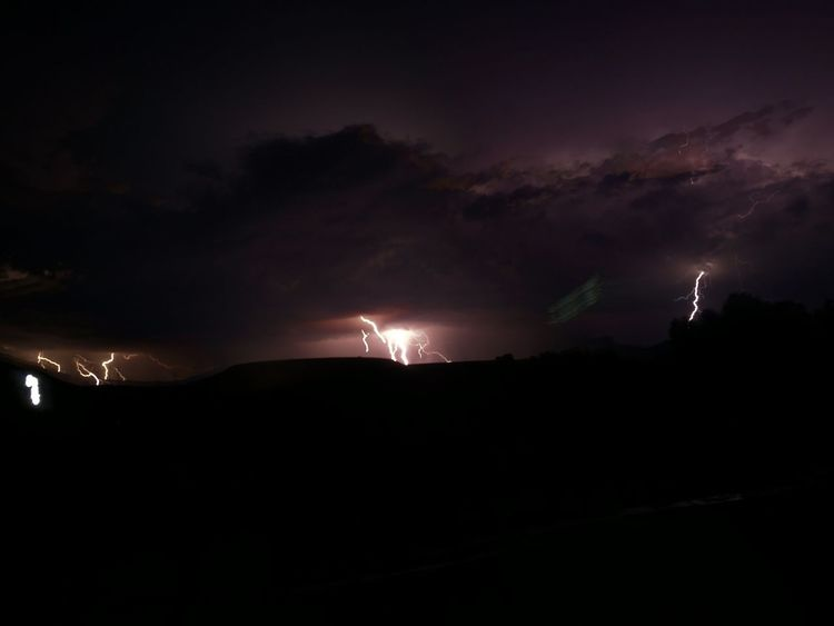 winter storm in Karoo Night Sky Cloud - Sky Illuminated Silhouette Lightning Beauty In Nature Thunderstorm Landscape Dark