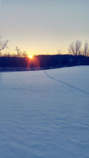 It's Cold Outside Snow ❄ Minnesota Godscountry Thewoods Simple Beauty Winter Clouds And Sky Sunset Dusk Firstsunsetiftheyear