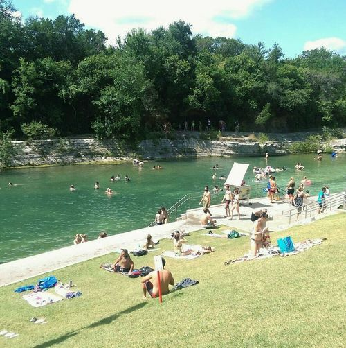 Last Summer at Barton Springs. NaturalSprings Summer2015 Texas Heatwave 2015 Texas!!!! Austin Texas Coldwaterspring Taking Photos Relaxing Sunnyday☀️