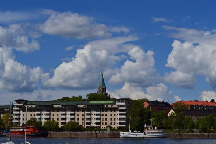 Love the Clouds Waiting for the Ferry Södermalm Stockholm Blue Sky Clouds And Sky Water Water_collection