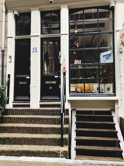 Which stairs would you take? Shop Front Stairs Display Window Shop Window Shop Architecture No People Built Structure Building Exterior Day Closed Outdoors