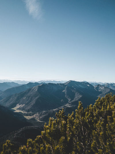 Panoramic view of the bavarian alps