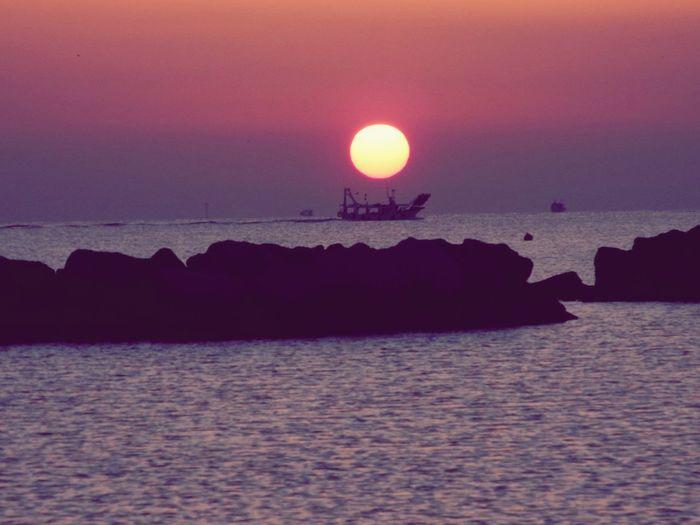 Reflected Glory Italia Italy Spiaggia Bellariaigemarina Emiliaromagna Sun Morning Mare Tramonto Sky Boat Landscape Landscape_Collection