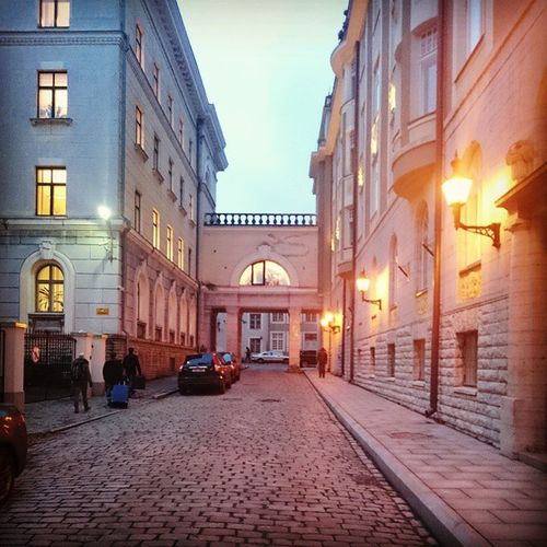 Random street - Old Town - Tallinn Alcohol Estonia Tallinn Street Old Town Lights Ersamus