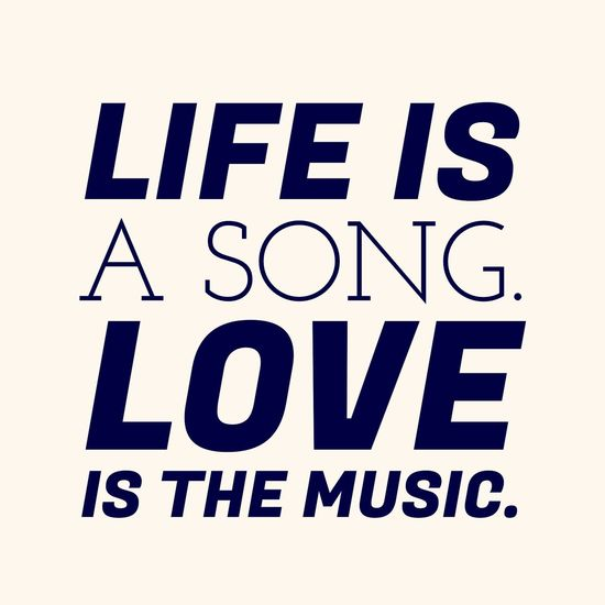 Life is a song, love is the music ~dominogirl Dominogirl Life Song Love Love ♥ Music