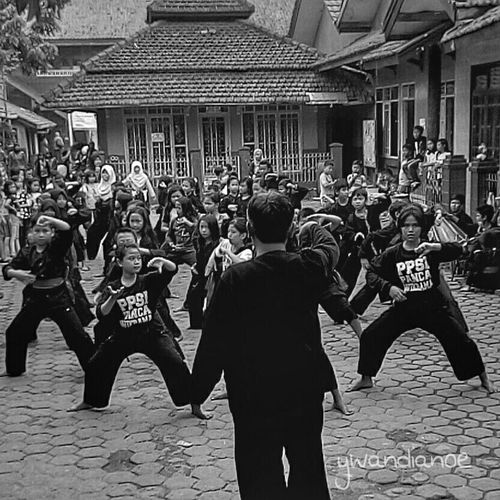 Practice makes perfect Martial Arts Pencak Silat Sports Black And White School