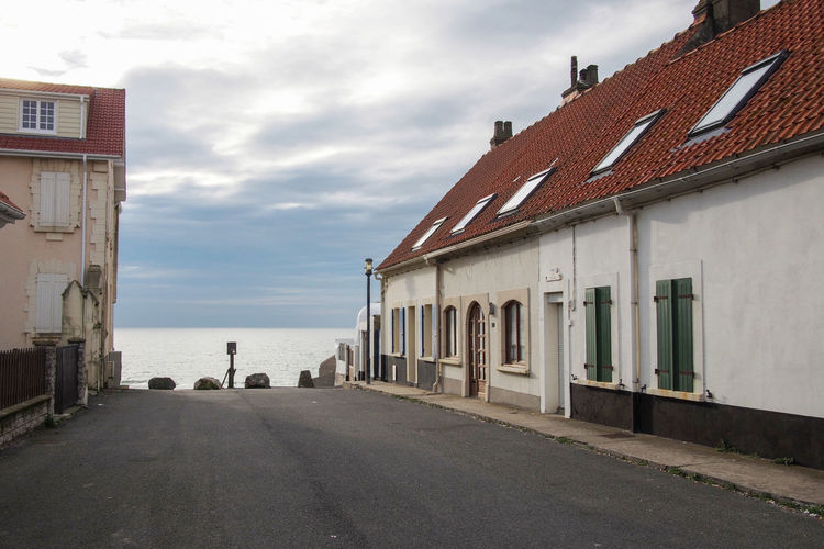 France Houses Architecture Audresselles Day Fisherman's House Fishers Village North France Opal Coast Outdoors Pas-de-calais Sea Sea And Sky Seaside Sky Summer Sunset Village