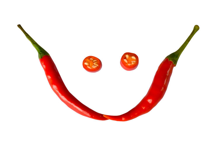 Red peppers on