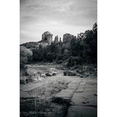 Tinythaliaphotography Fstopandstare Photography Blackandwhite fineart cathedralrock sedona arizona igdaily canyon rocky