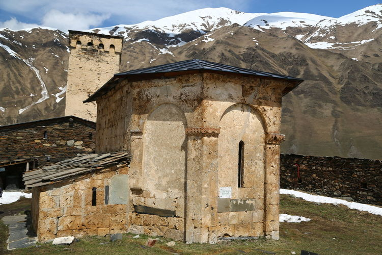 Architecture Built Structure Mountain Building Exterior Day Building No People Old Nature Sky Mountain Range Outdoors Damaged Cold Temperature Snow Abandoned House Snowcapped Mountain Winter Georgia Mestia/town In Svaneti/Georgia