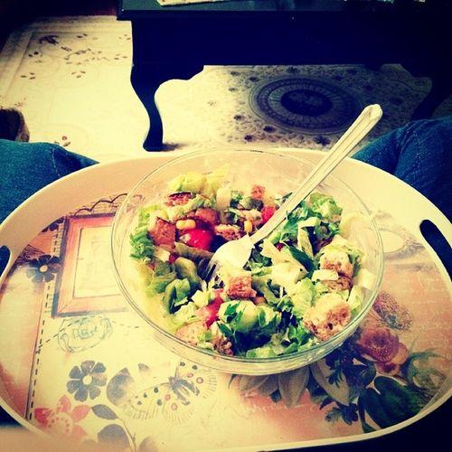 Var mi salata gibisi Kepekli Misirli Salata Eating vegetables corn healthy delicious