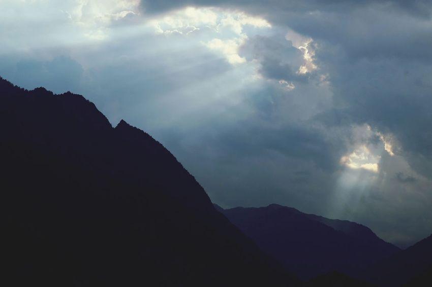 Mountain Sunset Astronomy Sun Silhouette Sky Landscape Cloud - Sky