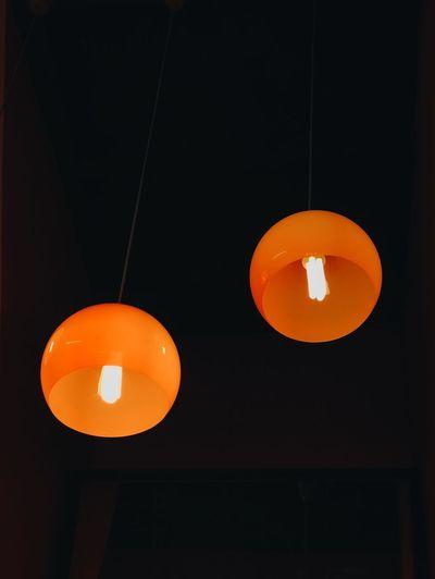 2 lamp Orange
