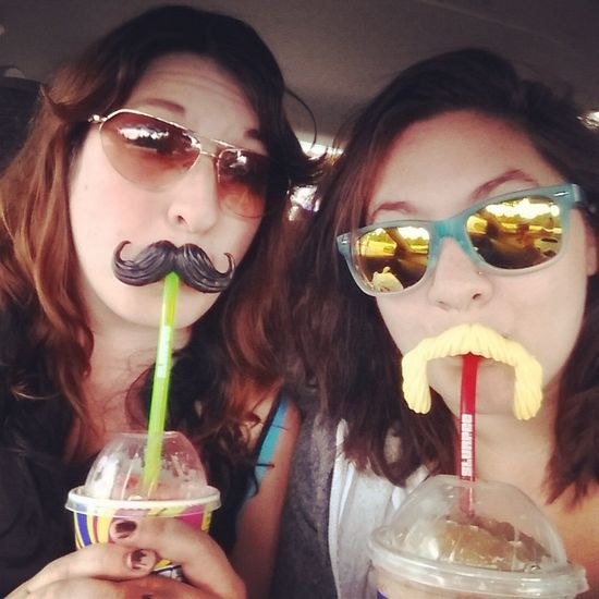 Stach-tastic Mustache Slurpee First Eyeem Photo