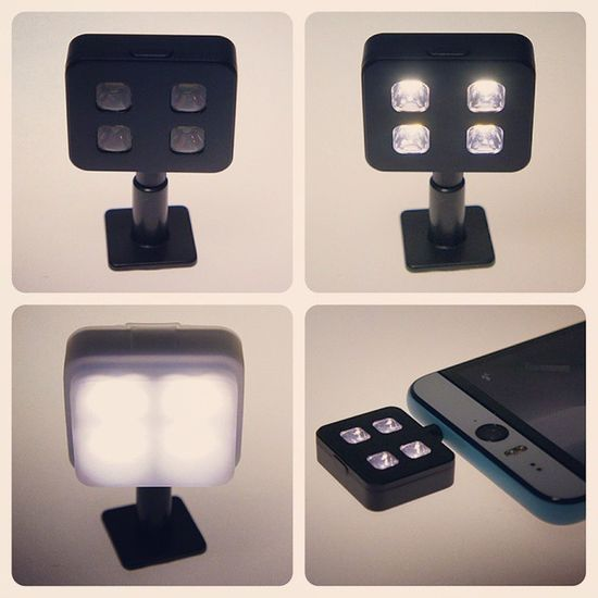 The @i_blazr LED light for smartphones (and cameras) just arrived. If one or two LEDs aren't enough for you. Iblazr Ledlight