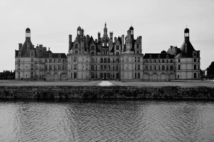 Castle Black & White Chateau De Chambord