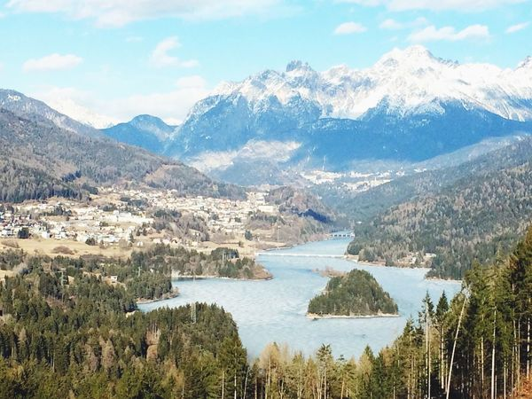 Landscape Mountains Lake Lagore Cadore