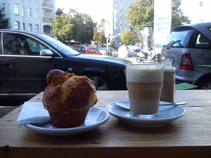Sunday Morning Brioche Flat White Reading Newspaper