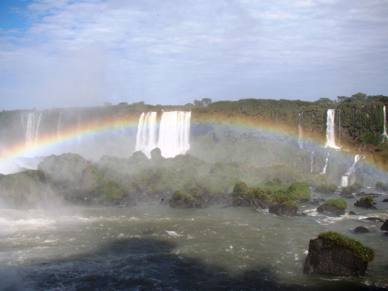 SCENIC VIEW OF RAINBOW OVER WATER