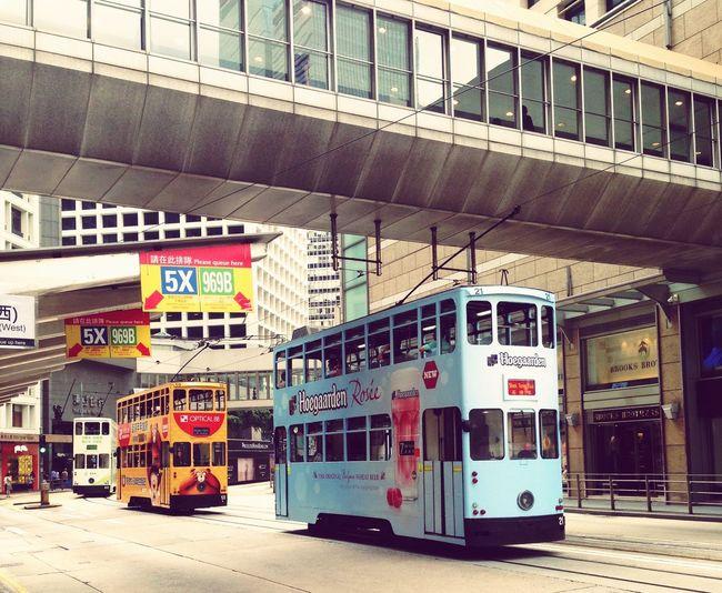 Tram at the southern part of Hong Kong