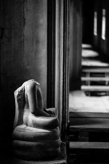 Broken Statue In Angkor Wat Temple