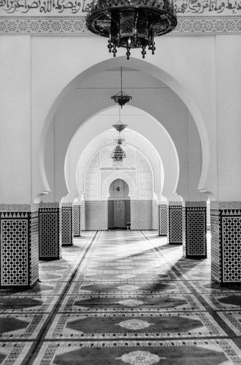 Architecture Marrakesh Morocco Art Religion Muslim Built Structure Diminishing Perspective Perspective Black & White Travel Travel Destinations Tourism