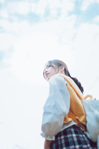 Sky Cloud - Sky Low Angle View Real People Young Women Young Adult