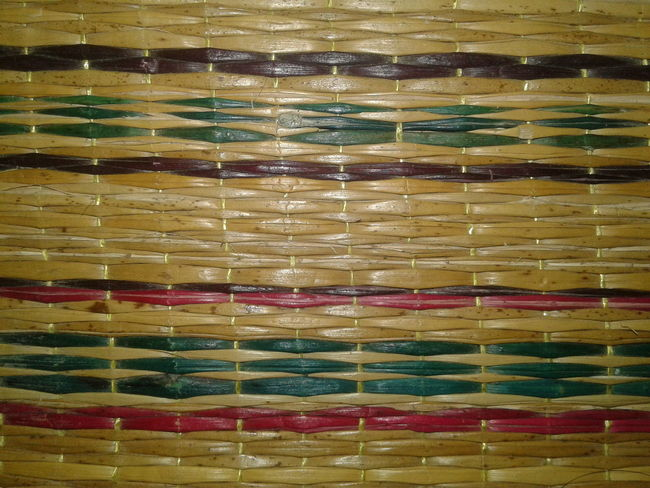 Natural mats, thai people, background Multi Colored Backgrounds Full Frame Pattern Yellow No People Close-up