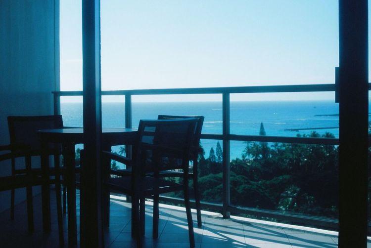 35mm Film Film EyeEm Best Shots Hawaii Traveling Blue Window Light And Shadow Terrace