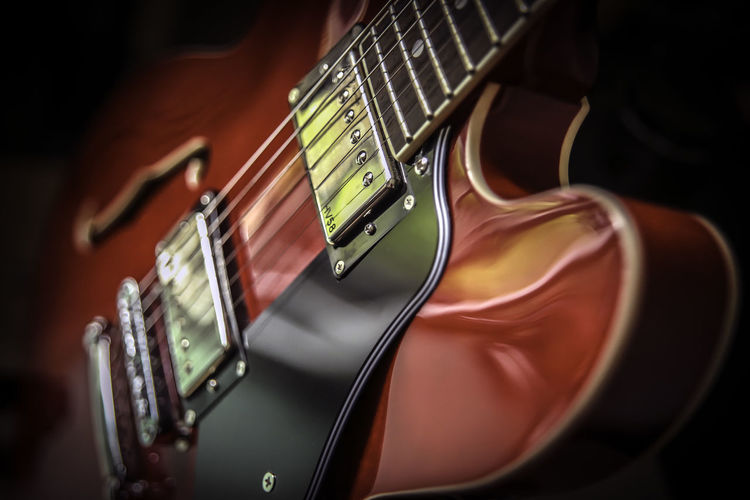 Close-Up Of Electric Guitar